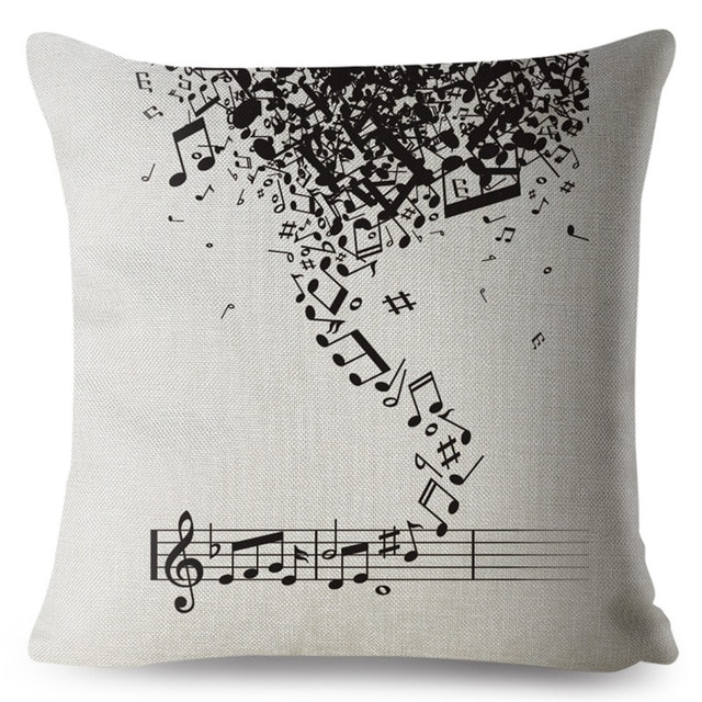 Falling Notes Pillow Cover