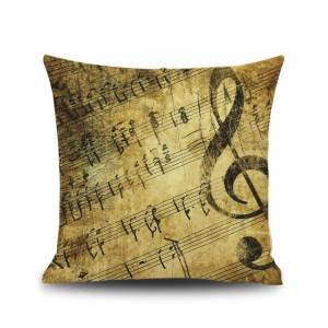 Gold Clef Pillow Cover