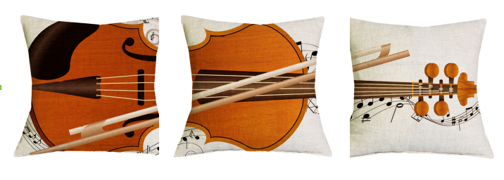 Pillows violin set